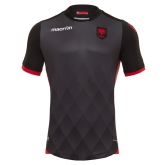 2017 Albania Away Black Soccer Jersey Shirt