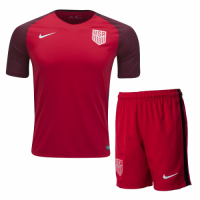 USA 2017 Away Red Soccer Jersey Kit
