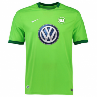 Wolfsburg 17/18 Home Green Soccer Jersey Football Shirt