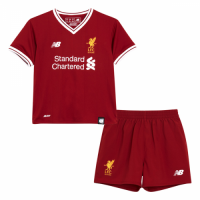 Liverpool 17/18 Home Red Kids Kit Soccer Kit