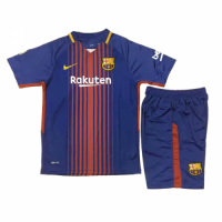 Barcelona 17/18 Home Children Kits Soccer Kids kit