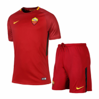 Roma 17/18 Home Red Soccer Kit Football Uniforms
