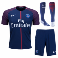 PSG 17-18 Home Soccer Jersey Whole Kit(Shirt+Short+Socks)