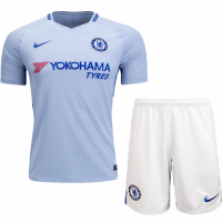 17-18 Chelsea Away Sky Blue Soccer Jersey Kit(Shirt+Short)