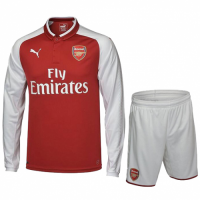 17-18 Arsenal Home Long Sleeve Jersey Kit(Shirt+Short)