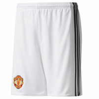 Manchester United 17-18 Home White Jersey Short
