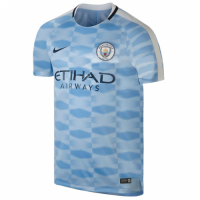 Manchester City 17/18 Blue Pre-Match Training Jersey