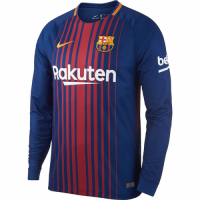 17-18 Barcelona Home Long Sleeve Jersey Shirt