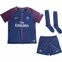 17-18 PSG Home Children's Jersey Whole Kit(Shirt+Short+Socks)