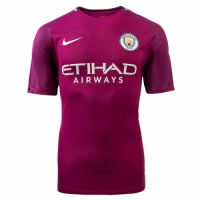 17-18 Manchester City Away purple Soccer Jersey Shirt
