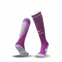 17-18 Manchester City Away Puple Jersey Socks