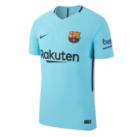 17-18 Barcelona Away Blue Soccer Jersey Shirt(Player Version)