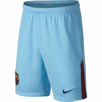 17-18 Barcelona Away Blue Soccer Jersey Shorts