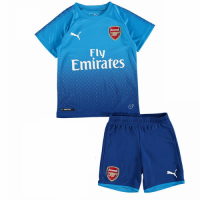 17-18 Arsenal Away Blue Children's Jersey Kit(Shirt+Short)