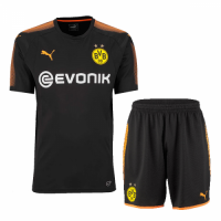 17-18 Borussia Dortmund Black Goalkeeper Jersey Kit(Shirt+Short)