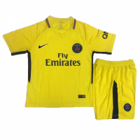 17-18 PSG Away Yellow Children's Jersey Kit(Shirt+Shorts)
