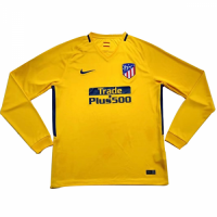 official photos 88c58 af271 17-18 Atletico Madrid Away Yellow Long Sleeve Jersey Shirt ...