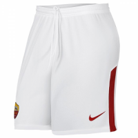 17-18 Roma Away White Soccer Jersey Shorts