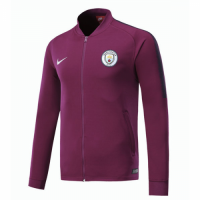 17-18 Manchester City Purple Low Collar Training Jacket