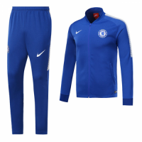 17-18 Chelsea Blue Low Collar Training Kit(Jacket+Trousers)