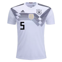 2018 Germany World Cup Home HUMMELS #5 Jersey Shirt