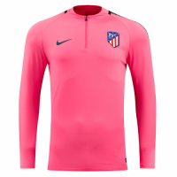 17-18 Atletico Madrid Pink Zipper Sweat Top Shirt