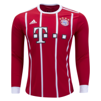 Bayern Munich 17-18 Home Long Sleeve Jersey Shirt