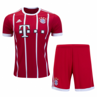Bayern Munich 17/18 Home Red Soccer Kit