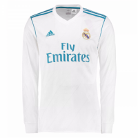 17-18 Real Madrid Home Long Sleeve Jersey Shirt
