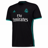 Real Madrid 17/18 Away Black Soccer Jersey (Player Version)