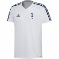 17-18 Juventus White Training Jersey Shirt