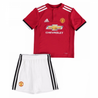 Manchester United 17/18 Home Red Soccer kids Kit