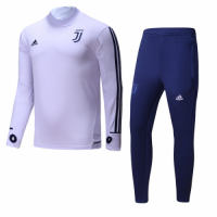 17-18 Juventus White&Navy Training Kit(Turtleneck Shirt+Trousers)