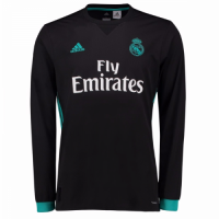 17-18 Real Madrid Away Black Long Sleeve Jersey Shirt