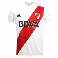 17-18 River Plate Home White Jersey Shirt