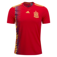 2018  world club Spain Home Red Soccer Jersey Shirt(Player Version)