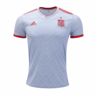 2018 Spain Away White Soccer Jersey Shirt(Player Version)