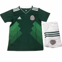 Home   Mexico  2018 World Cup Mexico Home Children s Jersey Kit(Shirt+Short) 2b691fa0c