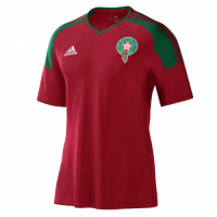 2017  Morocco Home Red Soccer Jersey Shirt