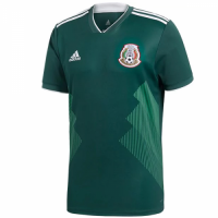 2018 World Cup Mexico Home Green Soccer Jersey Shirt(Player Version)