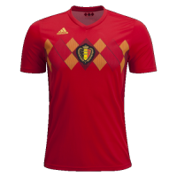 2018 World Cup Belgium Home Soccer Jersey Shirt(Player Version)
