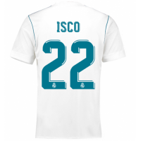 17-18 Real Madrid Home # 22 ISCO Soccer Jersey Shirt