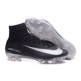 NK Mercurial Superfly V FG boots-Black