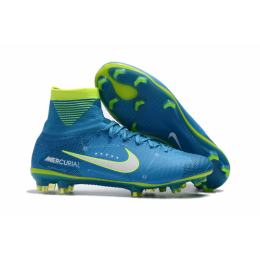 NK Mercurial Superfly V FG Boots-Sky Blue