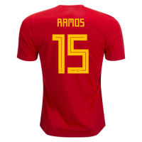 2018 World cup Spain # 15 RAMOS Home Soccer Jersey Shirt