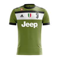 17-18 Juventus Third Away Green Soccer Jersey Shirt