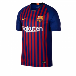 18-19 Barcelona Home Blue&Red Soccer Jersey Shirt(Player Version)