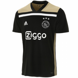 18-19 Ajax Away Black Soccer Jersey Kit(Shirt+Short)