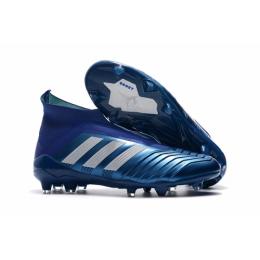 AD Predator 18+ without latchet FG boots-Blue