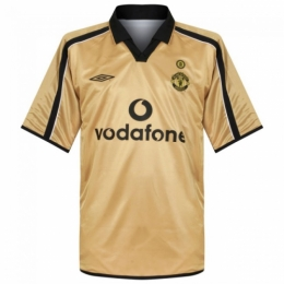huge discount 95119 ad778 Manchester United 01/02 Away Gold Centenary Soccer Jersey